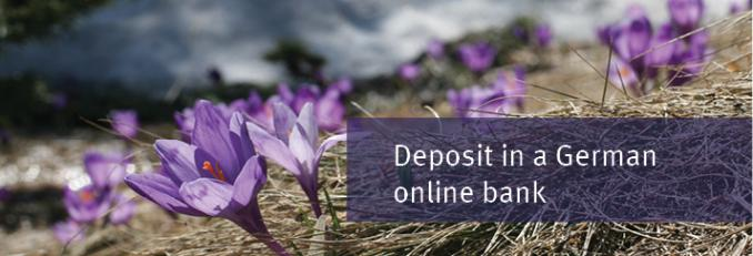 Reliable deposit in the German bank